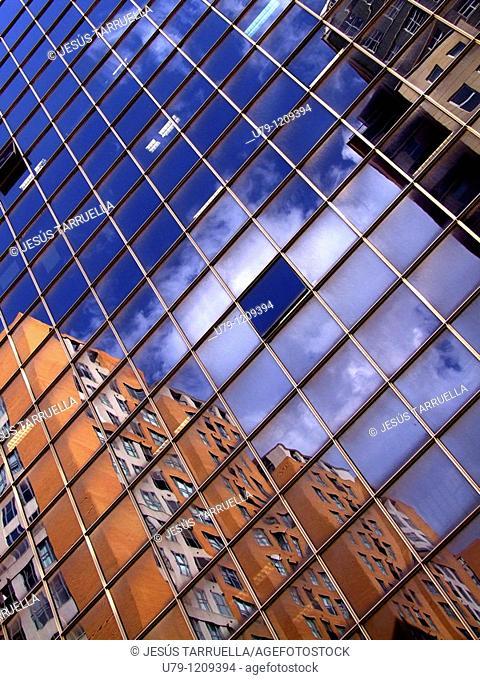 Urban Landscape  Mirror Image apartments  Valencia  Spain  Europe