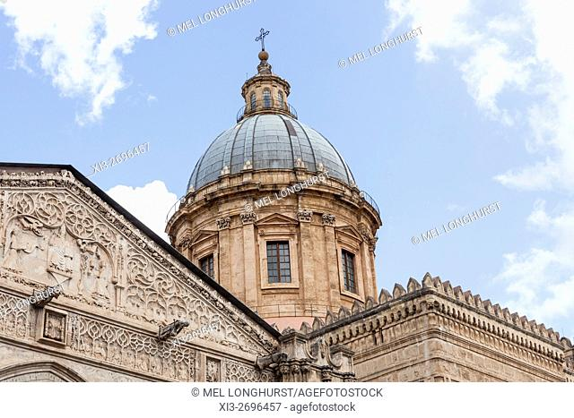 Dome of Palermo Cathedral, Palermo, Sicily, Italy