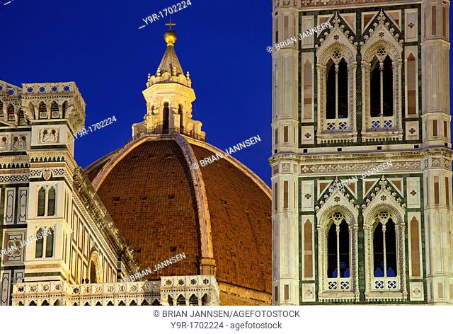 Dusk at the Duomo, Santa Maria del Fiore in Florence Tuscany Italy