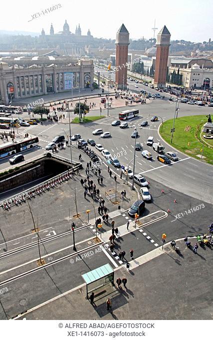 views from las Arenas Shopping centar, Barcelona, Catalonia, Spain