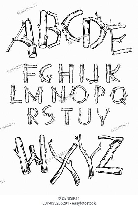 Font of the various branches of the different types of trees