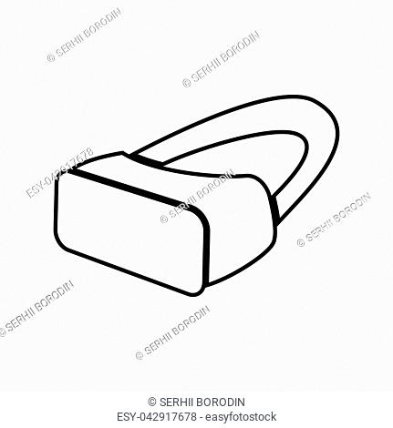 VR glasses it is black color icon