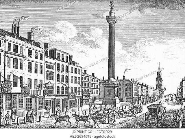 The Monument, City of London, c1755 (1903). Artist: Thomas Bowles