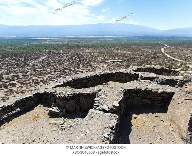 The ruins of Quilmes near Tucuman and Cafayate. Quilmes is considered as the biggest pre-columbian settlement in Argentina