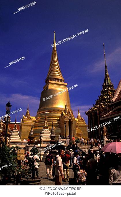 Thailand, Bangkok. Grand Palace and Emerald Buddha temple Wat Phra Kaeo