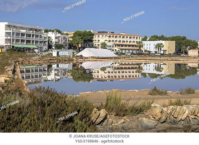 Colonia de Sant Jordi, Salinas de S'Avall, Mallorca, Balearic Islands, Spain, Europe