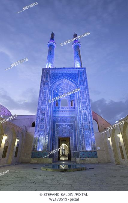 Masjed-e Jameh mosque or Friday mosque, Yazd, Iran