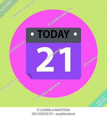 Vector Calendar Icon - vector illustration. Flat design element