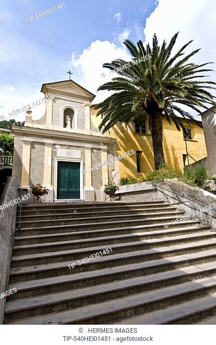Italy, Liguria, Moneglia, Santa Croce Church