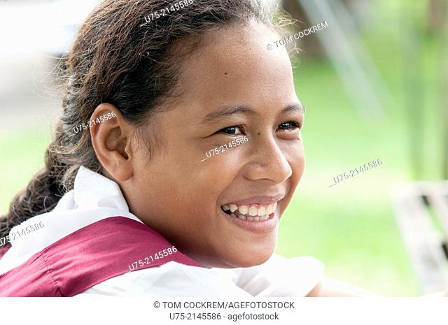 School girl, Beach Road, Apia, Samoa