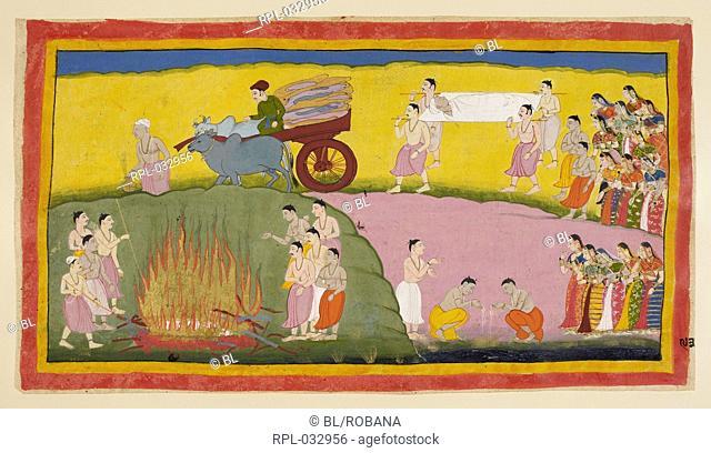 Scene from the Ramayana, Image taken from Ramayana, Ayodhya Kanda