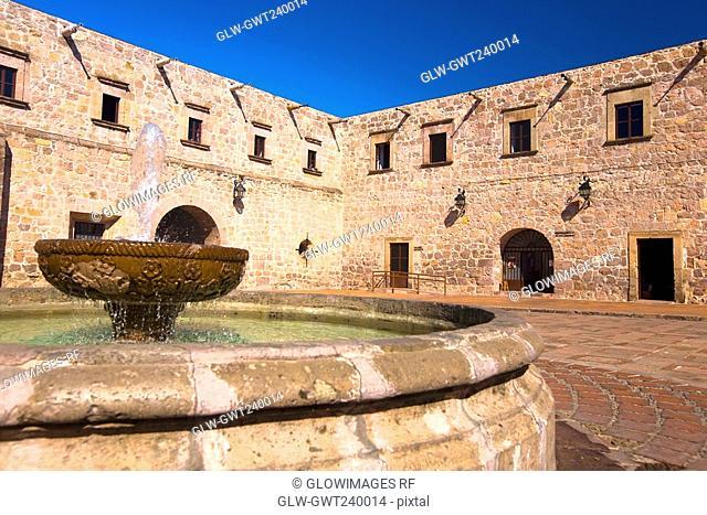 Fountain in the courtyard of a building, Casa De La Cultura, Morelia, Michoacan State, Mexico