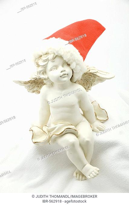 Angel with Santa Claus hat