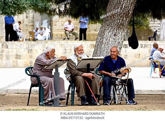 Israel, Jerusalem, Temple Mount, believers, men, old