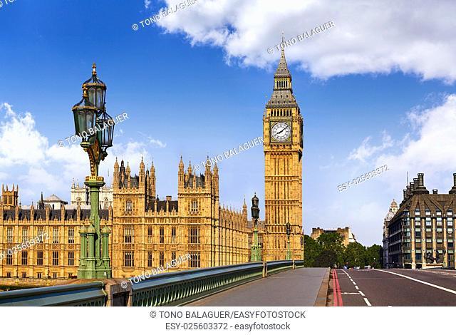 Big Ben Clock Tower in London at England