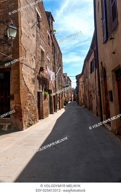 Classic narrow street of the old city in Italy