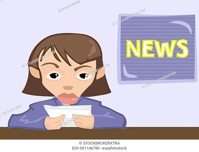 newsreader illustration
