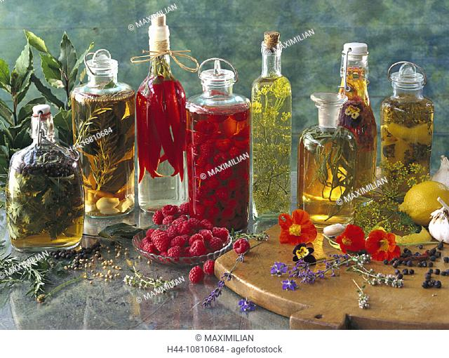 Assorted, Bottle, Bottles, Chili, Chilli, Dill, Flavour, Flavoured, Food, Fruit, Herb, Herbs, Homemade, Ingredients