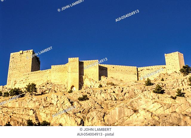 sopain, andalusia, jaen, the castle walls