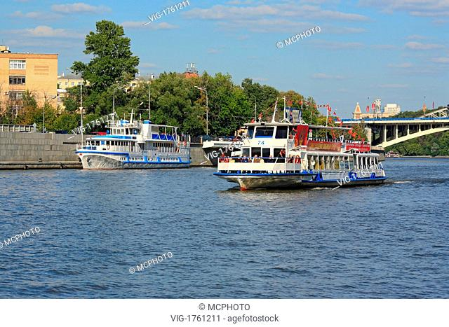 Tourist ship on Moskva river, Moscow, Russia - Russland, 03/09/2007