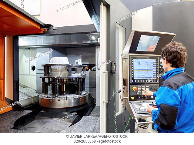 Machining Center. CNC. Vertical lathe. Machine Tools Company. Gipuzkoa . Basque Country. Spain. Europe