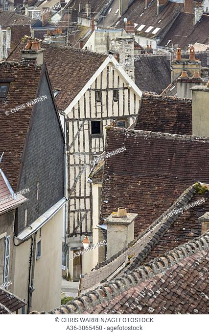 Looking over Tonnerre Yonne Bourgogne-Franche-Comte France