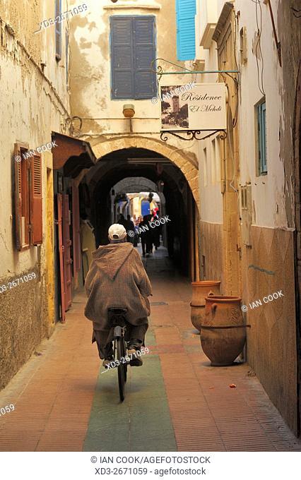 street scene in the medina, Essaouira, Morocco