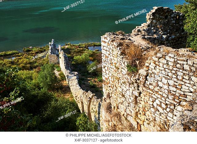 Albania, Vlore province, Butrint, Ruins of the greek city, UNESCO World Heritage Site, Baptistery