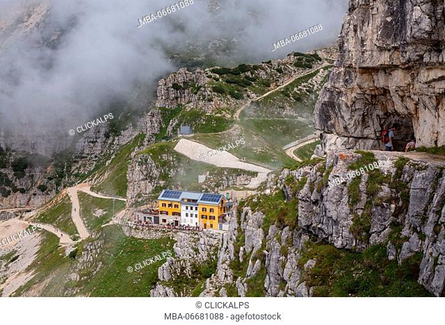 Papa refuge, Veneto, Italy. Papa refuge from the 52 galleries of Pasubio mountain