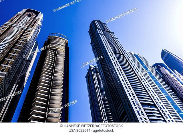 Supertall skyscrapers at Dubai Marina, Dubai, UAE