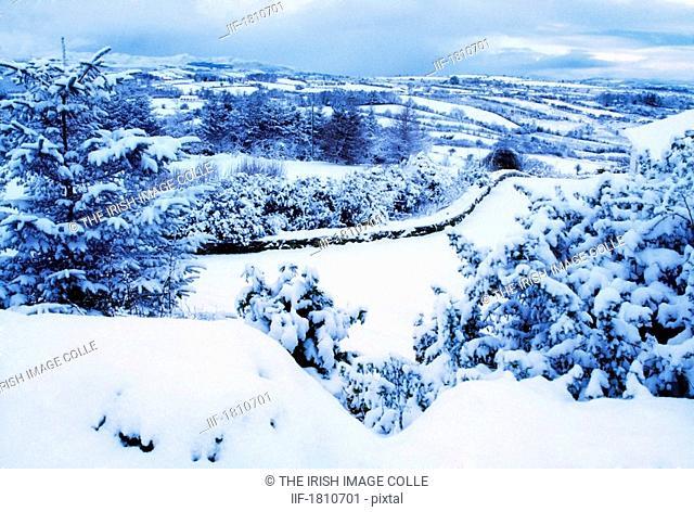 Glens of Antrim in winter, Co Antrim, Ireland