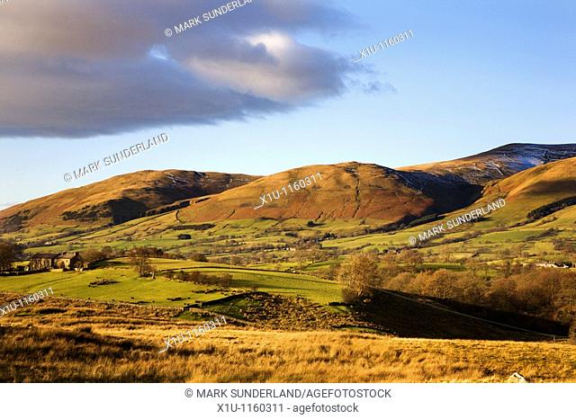 Winder and Crook Fells from Garsdale Howgill Fells Yorkshire Dal
