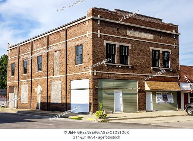 Illinois, Farmersville, Historic Route 66, Opera House, buiding, small town