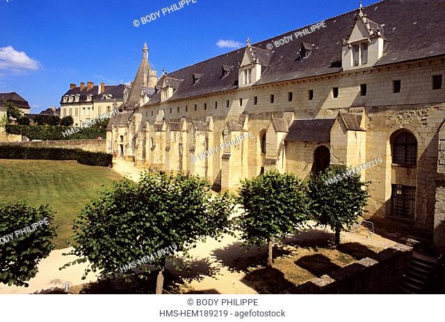 France, Loiret, Loire Valley listed as World Heritage by UNESCO, Fontevraud l' Abbaye, 12th century Fontevraud Royal Abbey