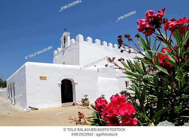 Sant Jordi Church, 15th Century, Sant Jordi de Ses Salines, Ibiza, Balearic Islands, Spain