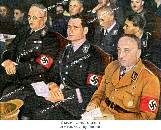 RUDOLF HESS German Nazi leader at a Nazi meeting, circa 1933