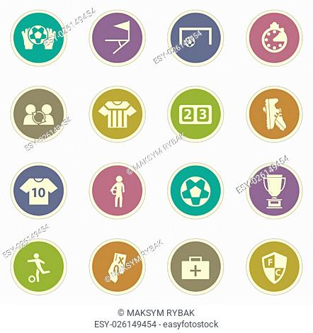 Soccer vector icons for web sites and user interfaces