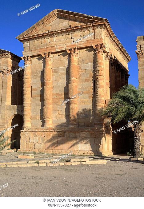 Main temple 2nd century, Sbeitla, Tunisia