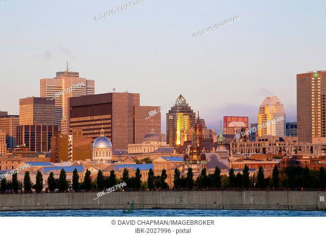 Skyline as seen from Parc Jean Drapeau, Montreal, Quebec, Canada