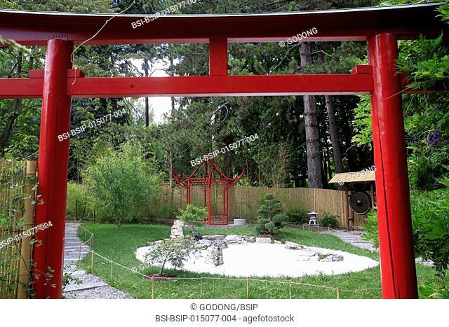 Botanical Garden of the City of Geneva. Japanese zen garden