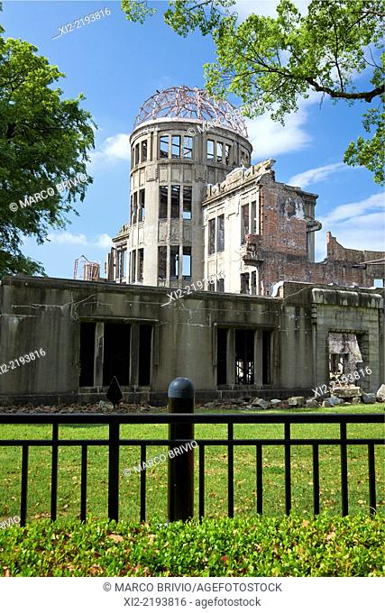 Hiroshima Peace Memorial, commonly called the Atomic Bomb Dome, in Hiroshima, Japan, is part of the Hiroshima Peace Memorial Park and was designated a UNESCO...