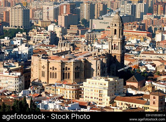 Malaga Stadtansicht