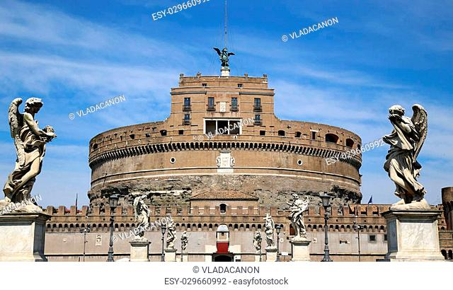 details of Castel Sant' Angelo in Rome, Italy