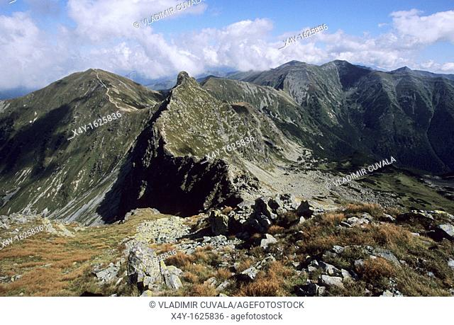 View of Rohace mountain range, western part of High Tatras National Park, Slovakia