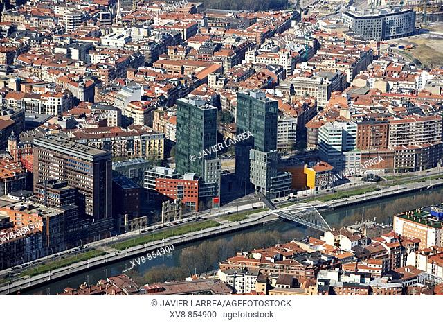 Isozaki towers, Bilbao, Biscay, Basque Country, Spain