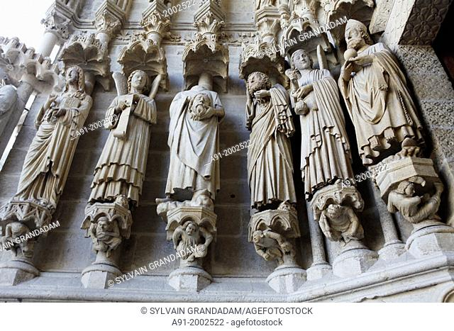 France, Somme departement, Amiens, the gothic cathedral, built by architect Robert de Luzarches, from 1220 to 1288, is France's largest cathedral