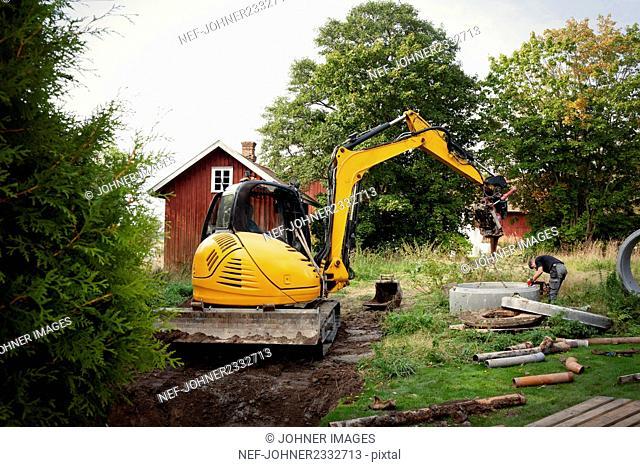 Digging sewage system