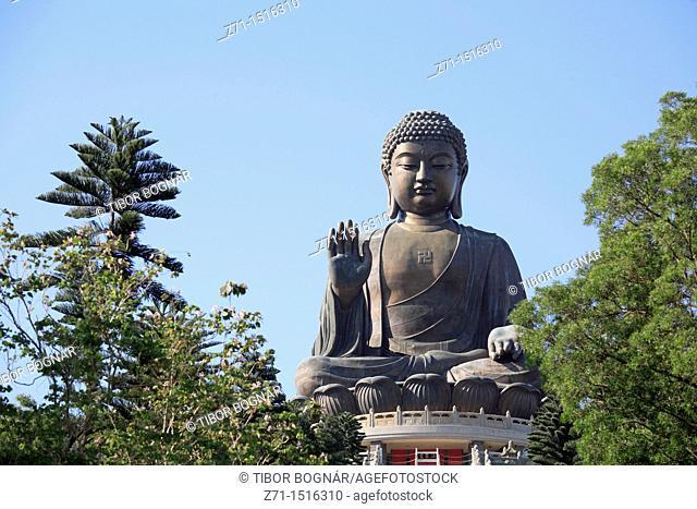 China, Hong Kong, Lantau Island, Tian Tan Buddha statue