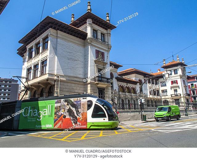 Escuela Pública Maestro García Rivero. Atxuri. Old town, Bilbao, Biscay, Basque Country, Spain