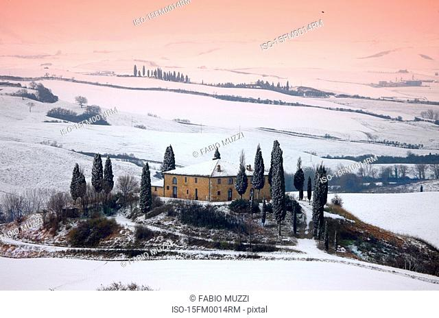 Orcia valley in winter